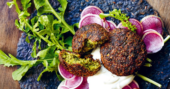 Got Canned Chickpeas? Try Making This Oven-Baked Green Falafel