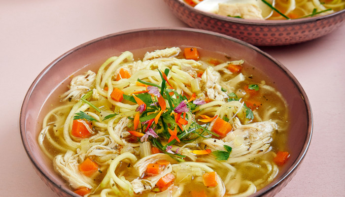 This Low-Carb Chicken Zoodle Soup Can Heal You From The Inside Out