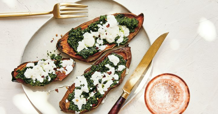 These Sweet Potato Pizzas Will Become Your New Weeknight Dinner Staple