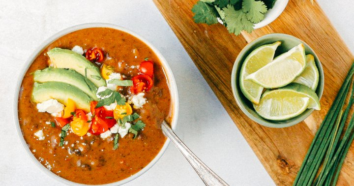 The Perfect Creamy Black Bean Soup For Winter Nights, From An RD
