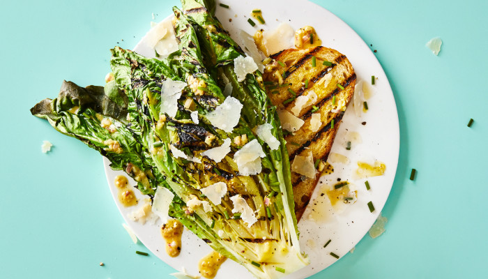 While The Grill Is On, Try This Grilled Romaine Recipe