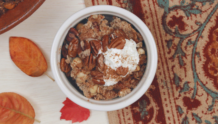 A Coconut Apple Crisp You Won't Want To Wait Till Thanksgiving To Make