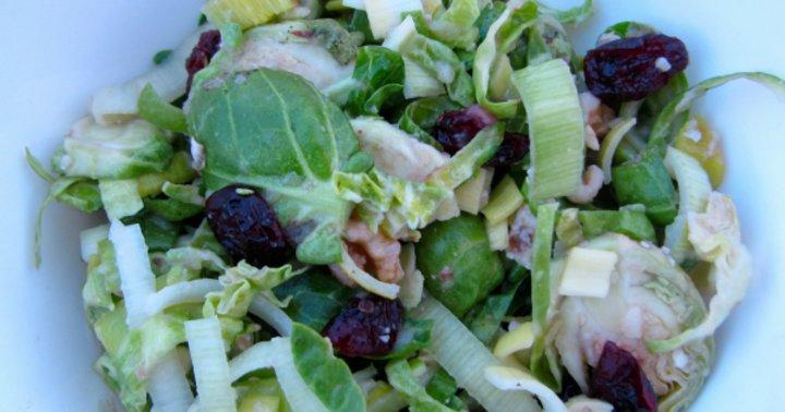Shredded brussels sprout salad mindbodygreen for Shredded brussel sprout salad recipe