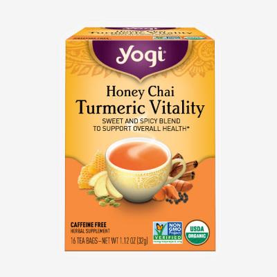 Honey Chai Turmeric Vitality Tea by Yogi Tea