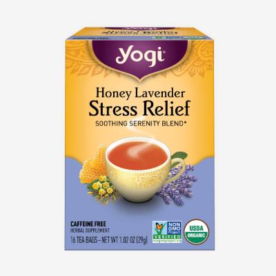 Honey Lavender Stress Relief Tea by Yogi Tea