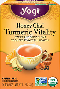 Honey Chai Turmeric Vitality Tea by Yogi Tea
