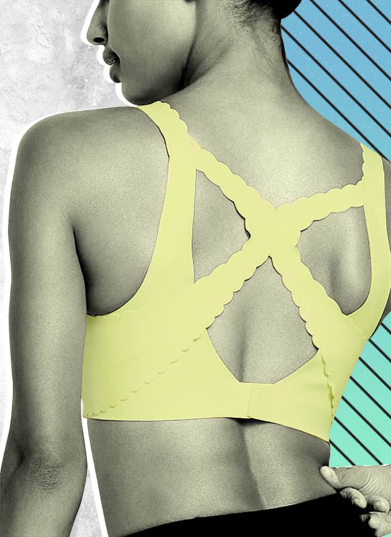 bff75fb1db The new scallop sport bra from Victoria s Secret Spot got a serious upgrade  from its original form  This time around