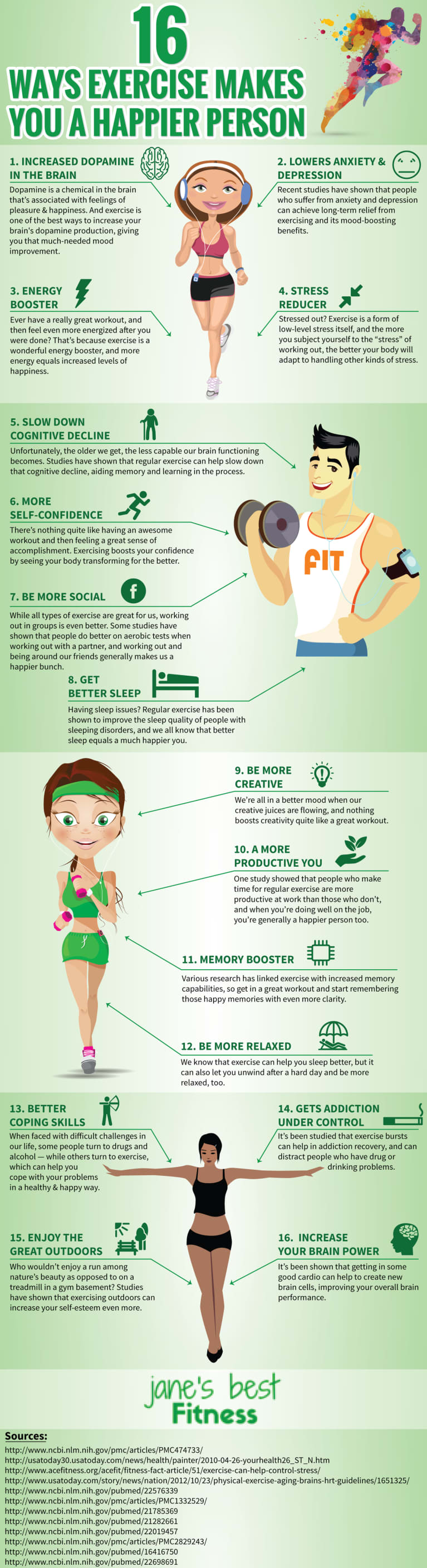 16 Ways Exercise Makes You Happier (Infographic)