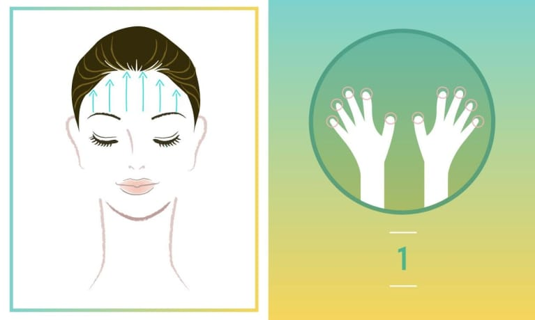 A diy facial massage for radiant glowing skin mindbodygreen 1 place all 10 fingertips above your eyebrows gently and slowly push up to the top of your forehead and into your scalp you choose whatever pressure solutioingenieria Image collections