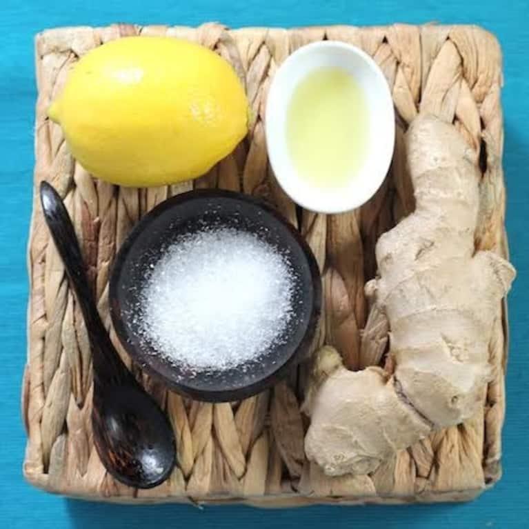 Lemon-Ginger Hand Scrub For Dry Winter Skin