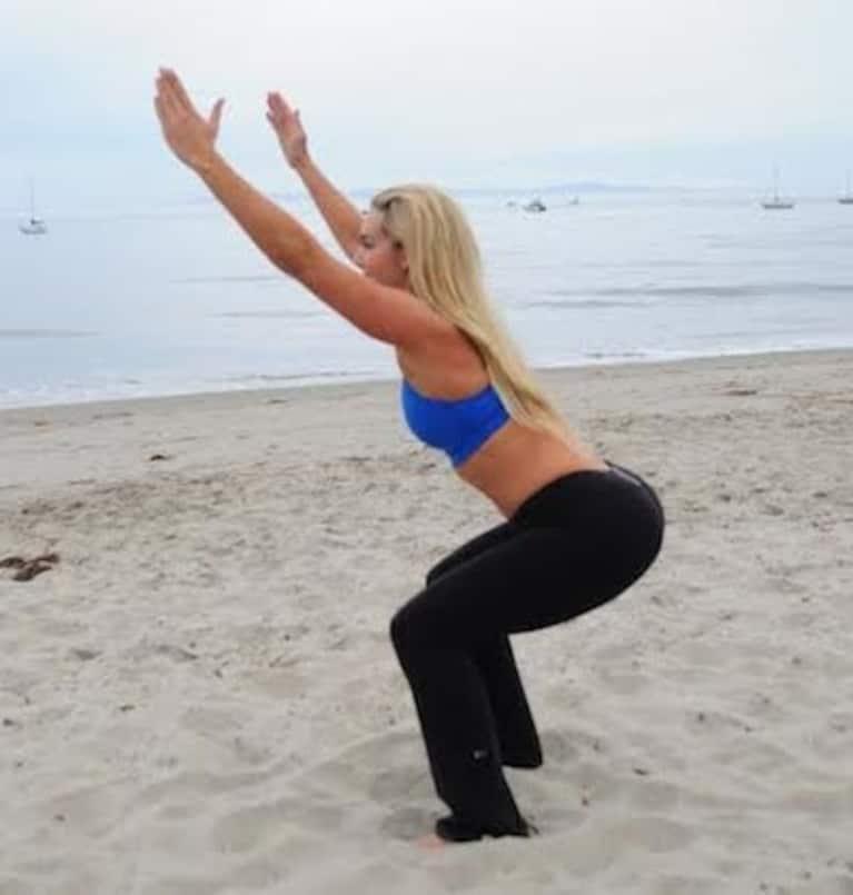 fitness à la plage