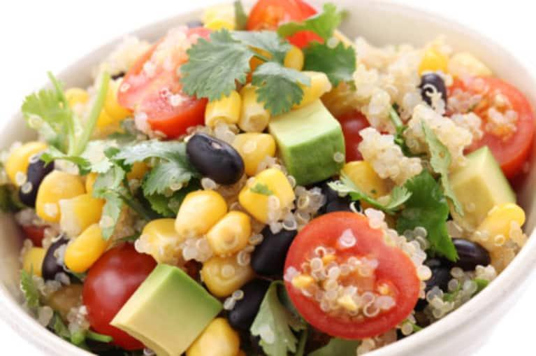 Quinoa Salad With Black Beans Avocado