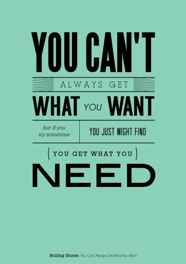 you always want what you can t have