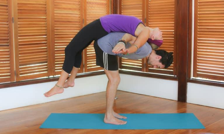 Bizarre yoga session
