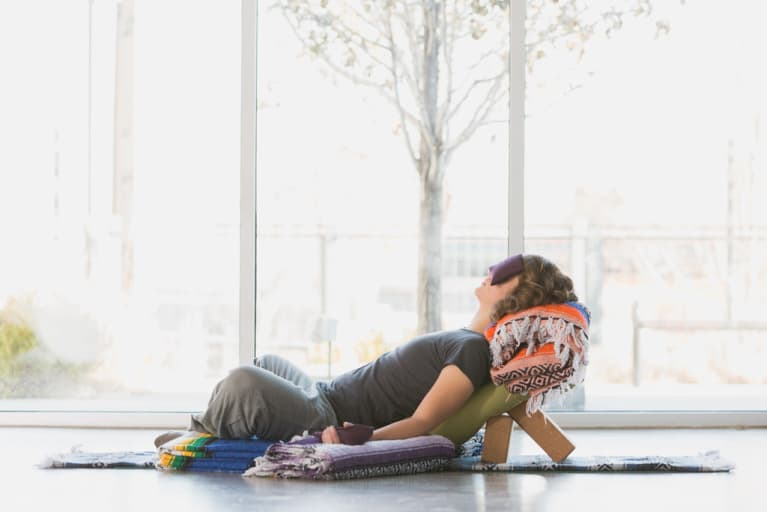 A Restorative Yoga Sequence To Help With Anxiety