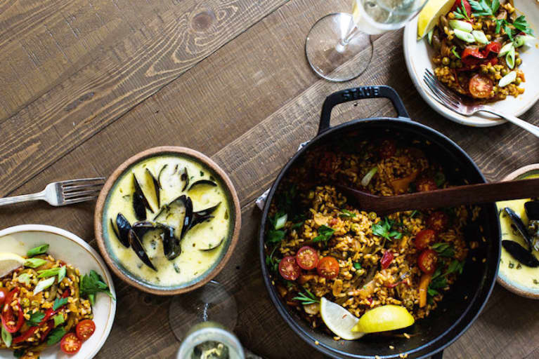 This Vegetable Paella Is A Dinner Party In A Pan