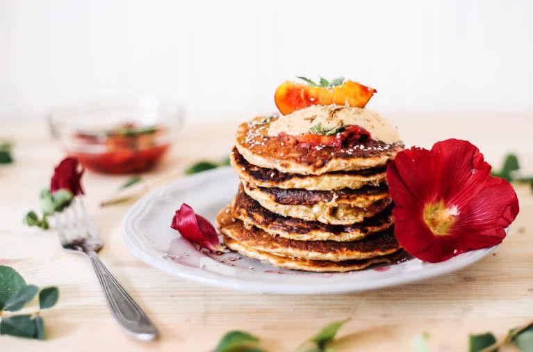 This Celeb Chef Created Vegan Cinnamon Roll Pancakes & It's Our New Favorite Weekend Breakfast