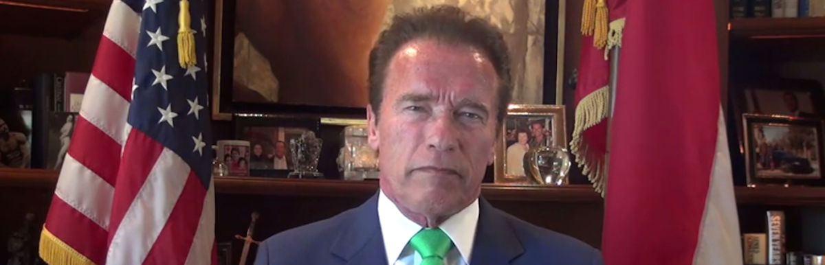 Arnold Schwarzenegger Delivers Powerful Speech On State Of The Earth (Video) Hero Image