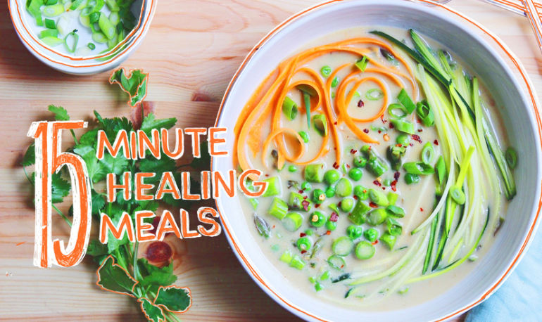 15-Minute Healing Meals: Coconut-Ginger Broth With Spring Vegetables Hero Image