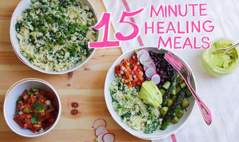 15-Minute Healing Meals: Cauliflower Rice Burrito Bowls Hero Image