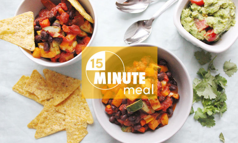15-Minute Vegetable-Packed Chili To Cure The Monday Blues Hero Image