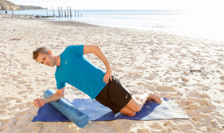 6 Foam-Roller Stretches To Ease Neck And Shoulder Pain Hero Image