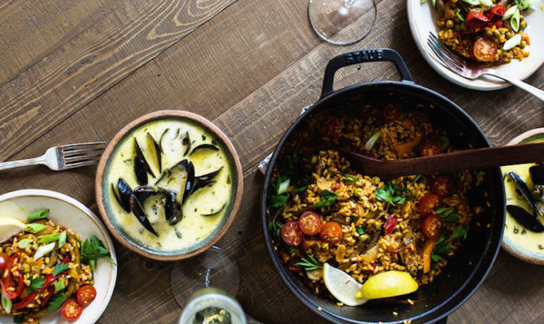 This Vegetable Paella Is A Dinner Party In A Pan Hero Image