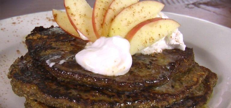 Apple Cinnamon Chia Pancakes (Gluten-Free Recipe) Hero Image