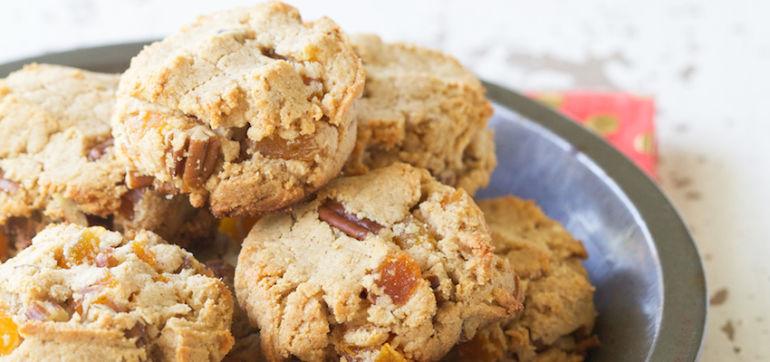 Grain-Free Apricot Pecan Cookies Hero Image