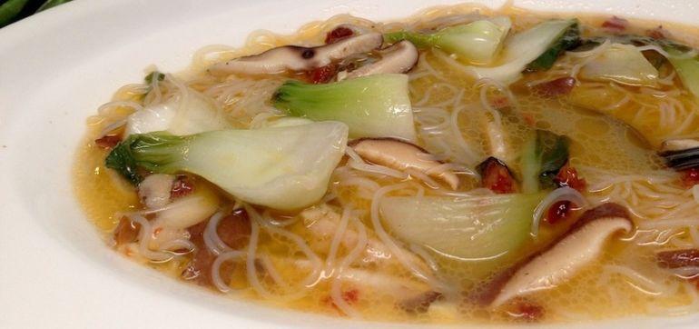 Soup In 15 Minutes: Bok Choy, Ginger & Shiitake (Vegan & Gluten Free) Hero Image