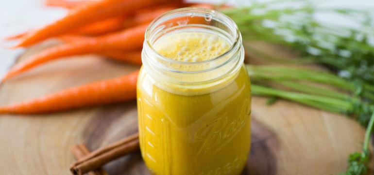 Carrot, Coconut & Cinnamon Smoothie Hero Image