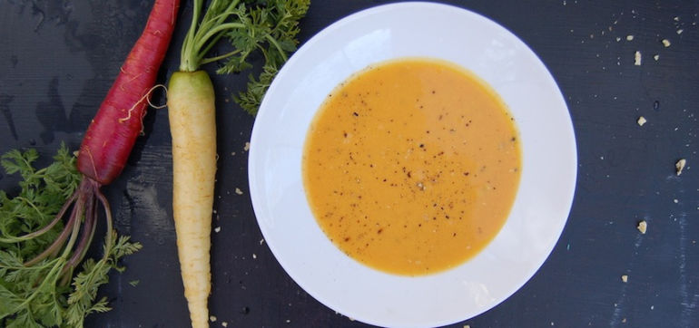 Warming Vegan Carrot-Ginger Soup Hero Image