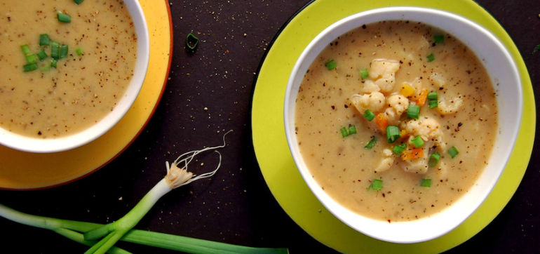 Vegan Cauliflower-Carrot Soup (Yummy!) Hero Image