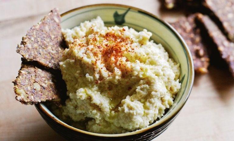 Next-Level Hummus: Roasted Garlic + Cauliflower Hero Image