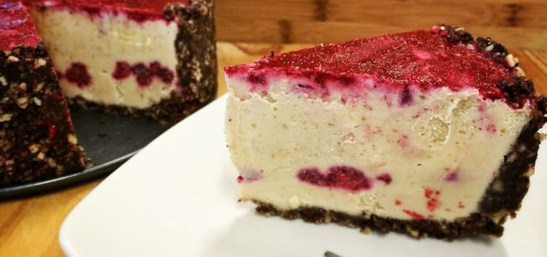 Raw White Chocolate Raspberry Torte (Super Easy To Make!) Hero Image