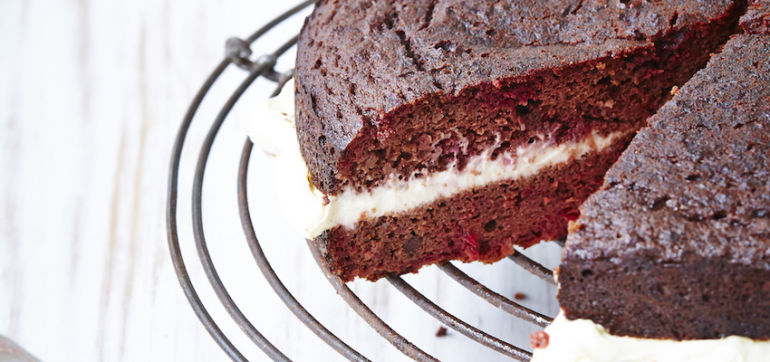 Gluten-Free Red Velvet Cake With Chocolate + Beets Hero Image