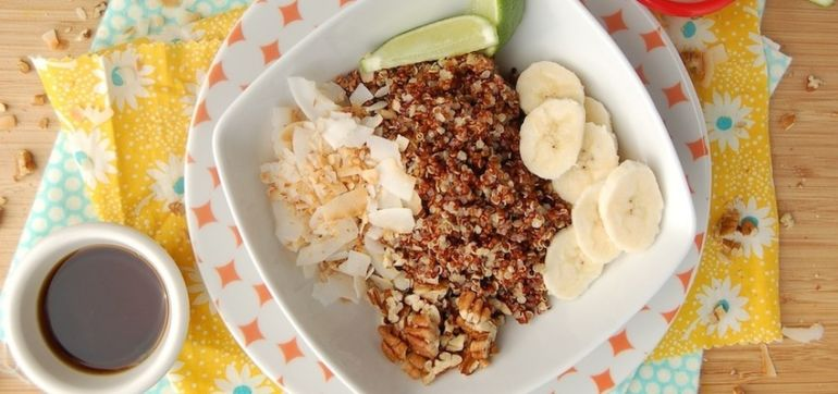 Absolutely Delicious Coconut-Lime Quinoa Breakfast Bowl Hero Image