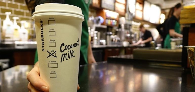 Starbucks Will Start Offering Coconut Milk Nationwide This Month Hero Image