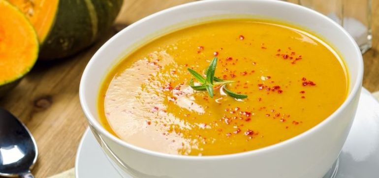 Curried Butternut Squash Soup Hero Image