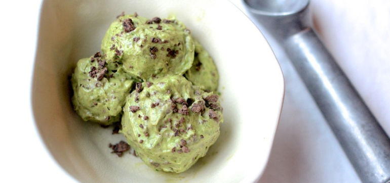 Dairy-Free Mint Chocolate Chip Ice Cream Hero Image
