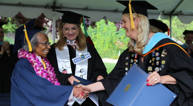 99-Year-Old Woman Fulfills Her Dream Of Graduating From College Hero Image