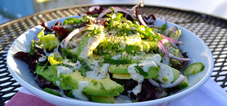 Supergreens Salad With Creamy Avocado & Tahini Dressing Hero Image