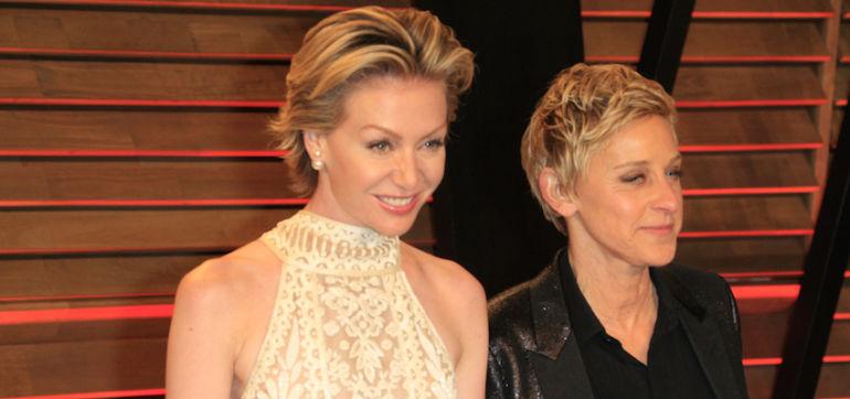 Ellen DeGeneres Catches Portia De Rossi Doing The Jane Fonda Workout Hero Image