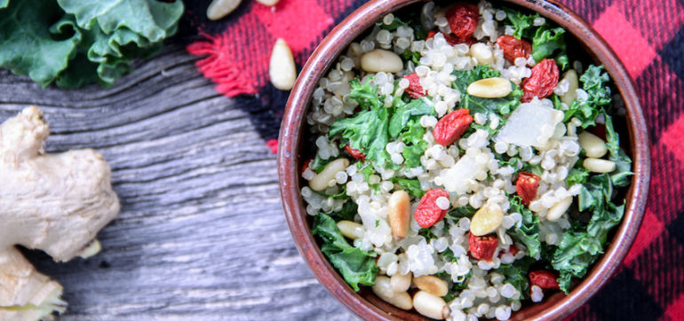 Eat Real With This Festive Quinoa & Kale Bowl Hero Image