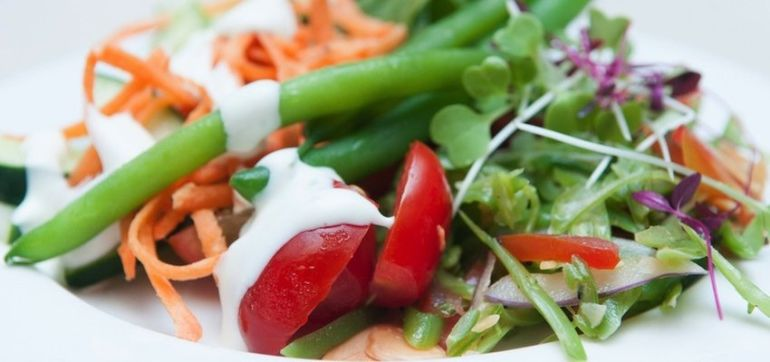 Farmers' Market Salad With Vegan Ranch Dressing Hero Image