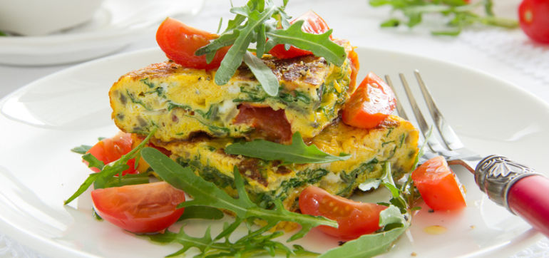 Power Up With This Tomato & Basil Breakfast Frittata! Hero Image