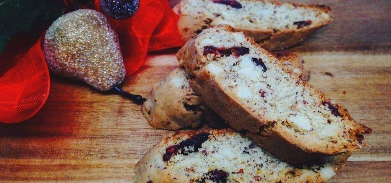 Gluten-Free Cranberry Almond Biscotti Hero Image