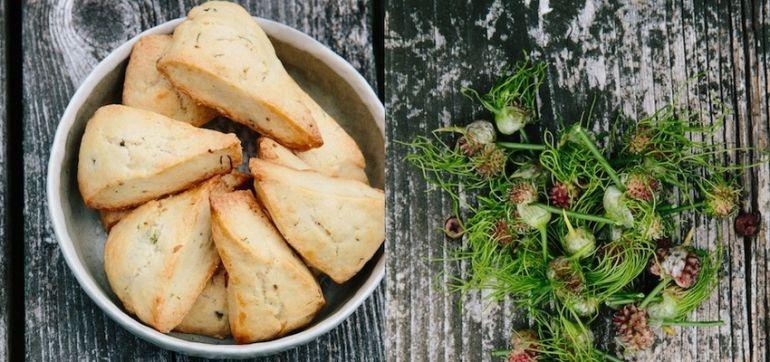 Wild Foraged Garlic Biscuits Recipe Hero Image