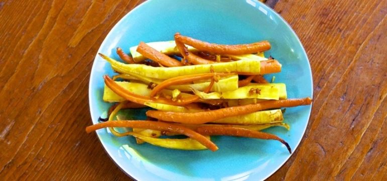 Ginger & Turmeric-Glazed Carrots & Parsnips Hero Image