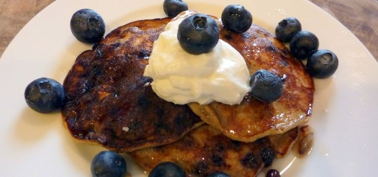 Gluten-Free Blueberry Pancakes (Perfect For A Cold Winter Morning!) Hero Image